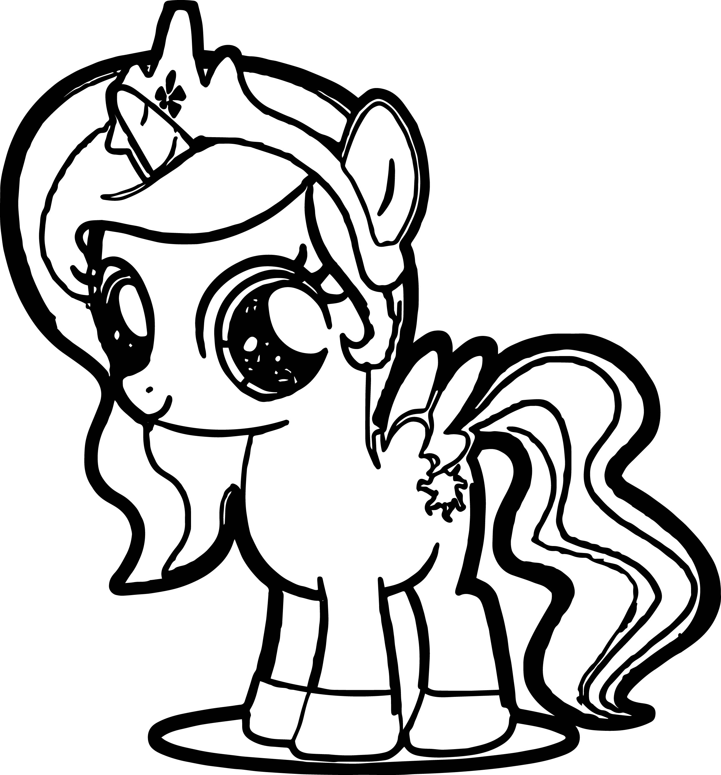 photo to coloring page cute pony coloring page