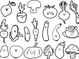 Cute Vegetable Coloring Page
