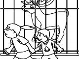 Deer And Childrens Coloring Page