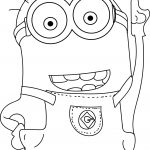 Despicable Me 2 Minions Hand Up Coloring Page