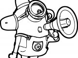 Despicable Me Alarm Minions Coloring Page