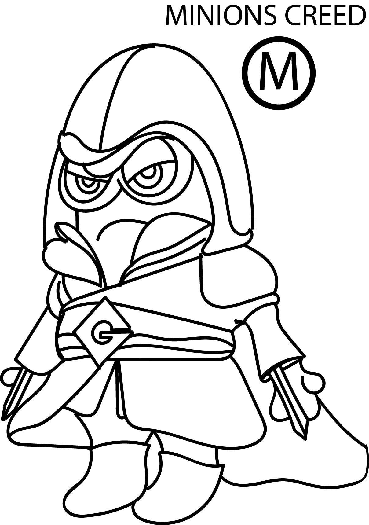 Despicable Me Minion Creed Coloring Page