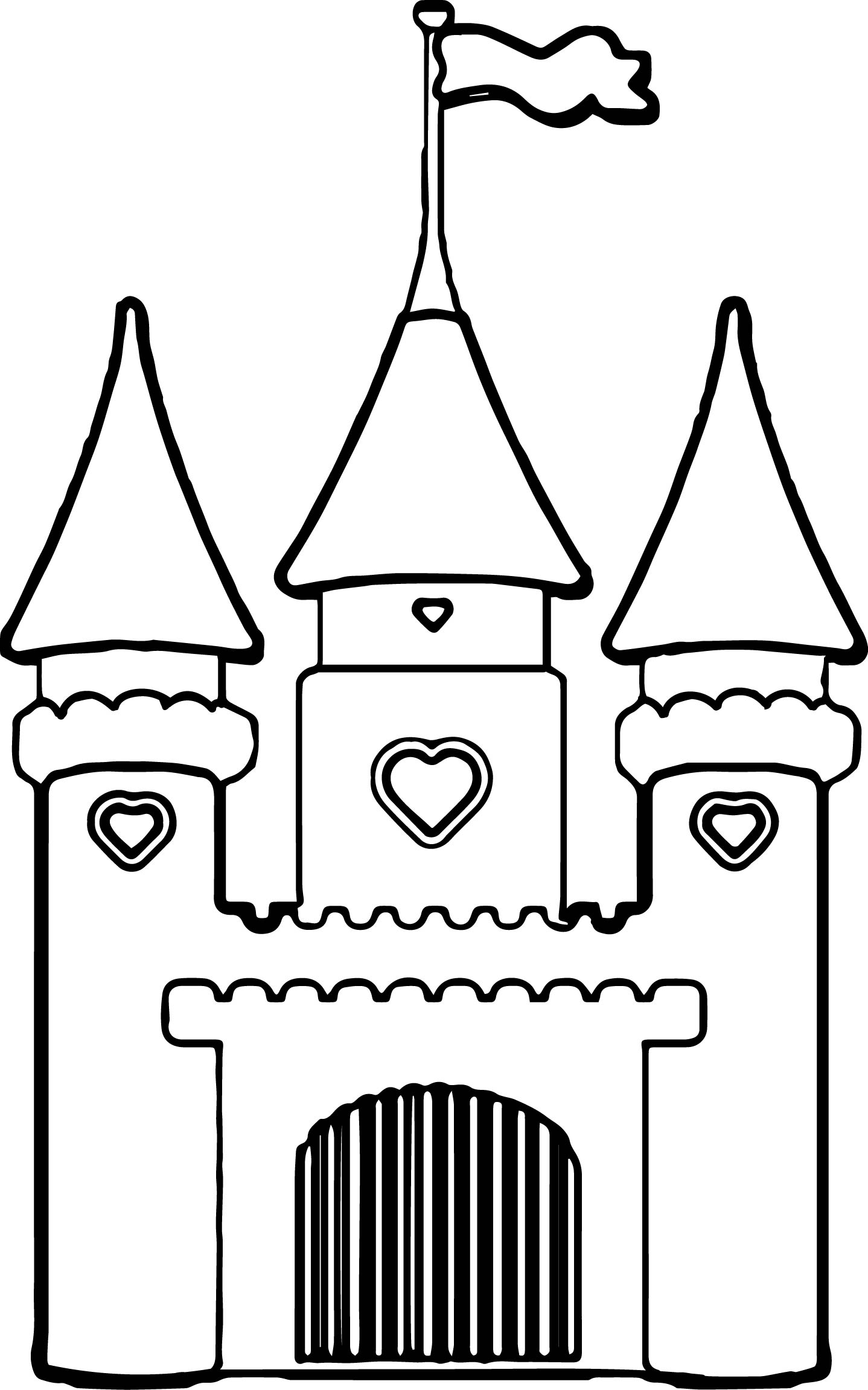 Disney Castle Princess Cinderella Girls Vinyl Wall Coloring Page