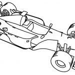 F1 Mclaren 2001 Formula Sport Car Coloring Page