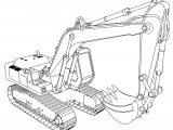Fiat Hitachi Fh200 Buldozer Ladle Coloring Page