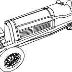 Fiat Mefistofele Formula Old Car Coloring Page