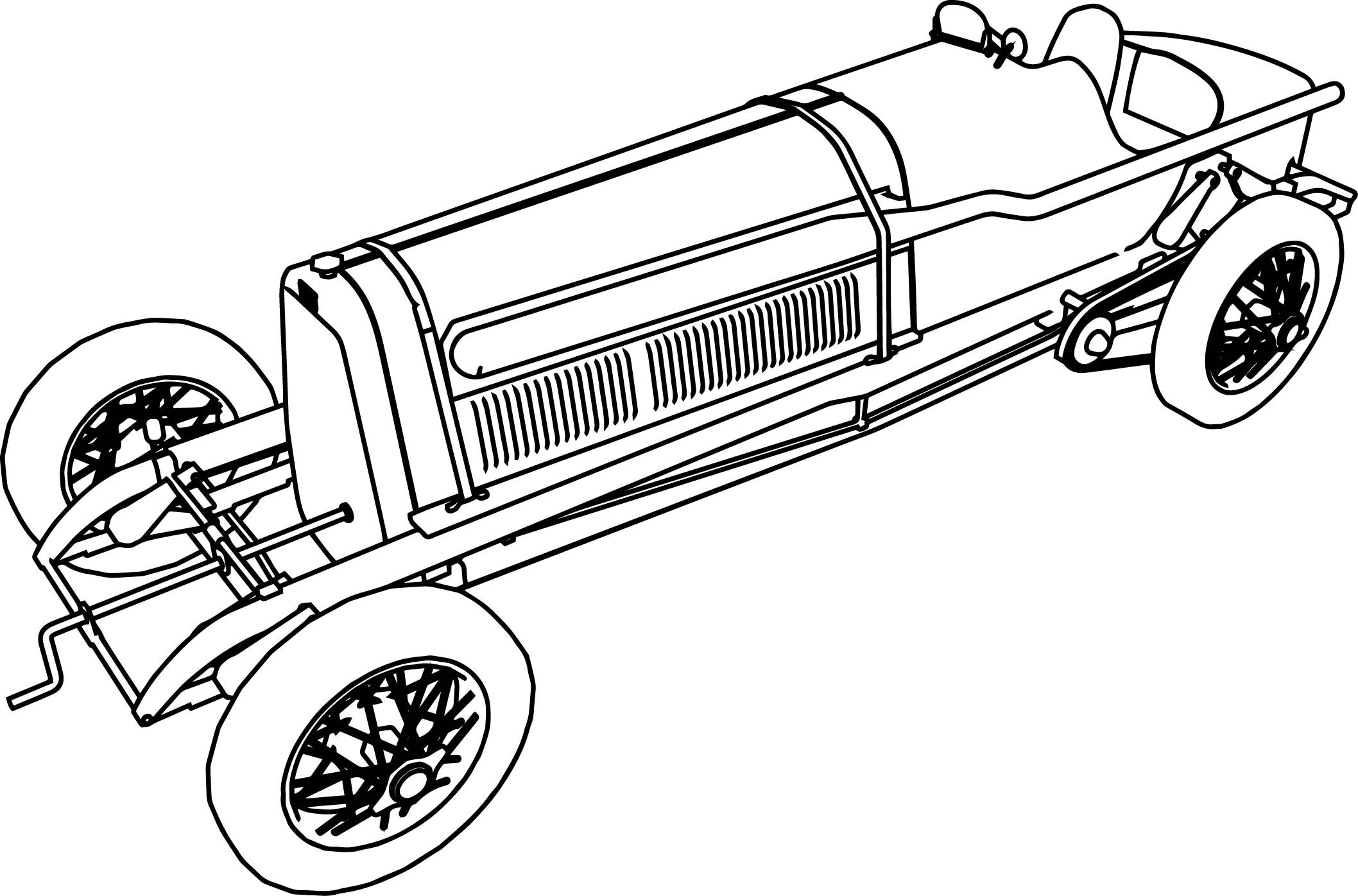Fiat Mefistofele Formula Old Car Coloring Page