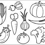 Free Vegetable Coloring Page