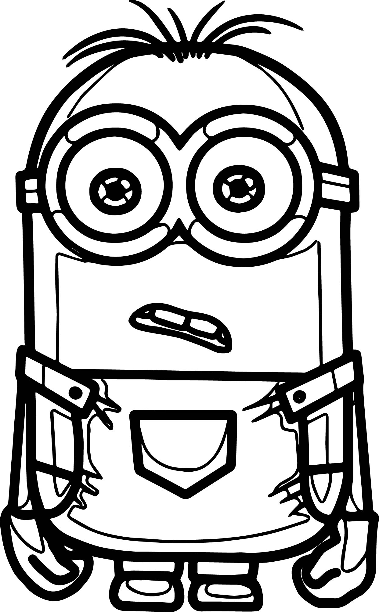 Good Minions Coloring Page