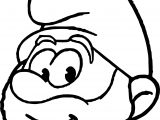 Grote Smurf Face Coloring Page