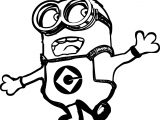 happy minion coloring page