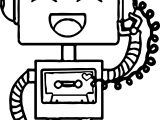 Happy Robot Coloring Page