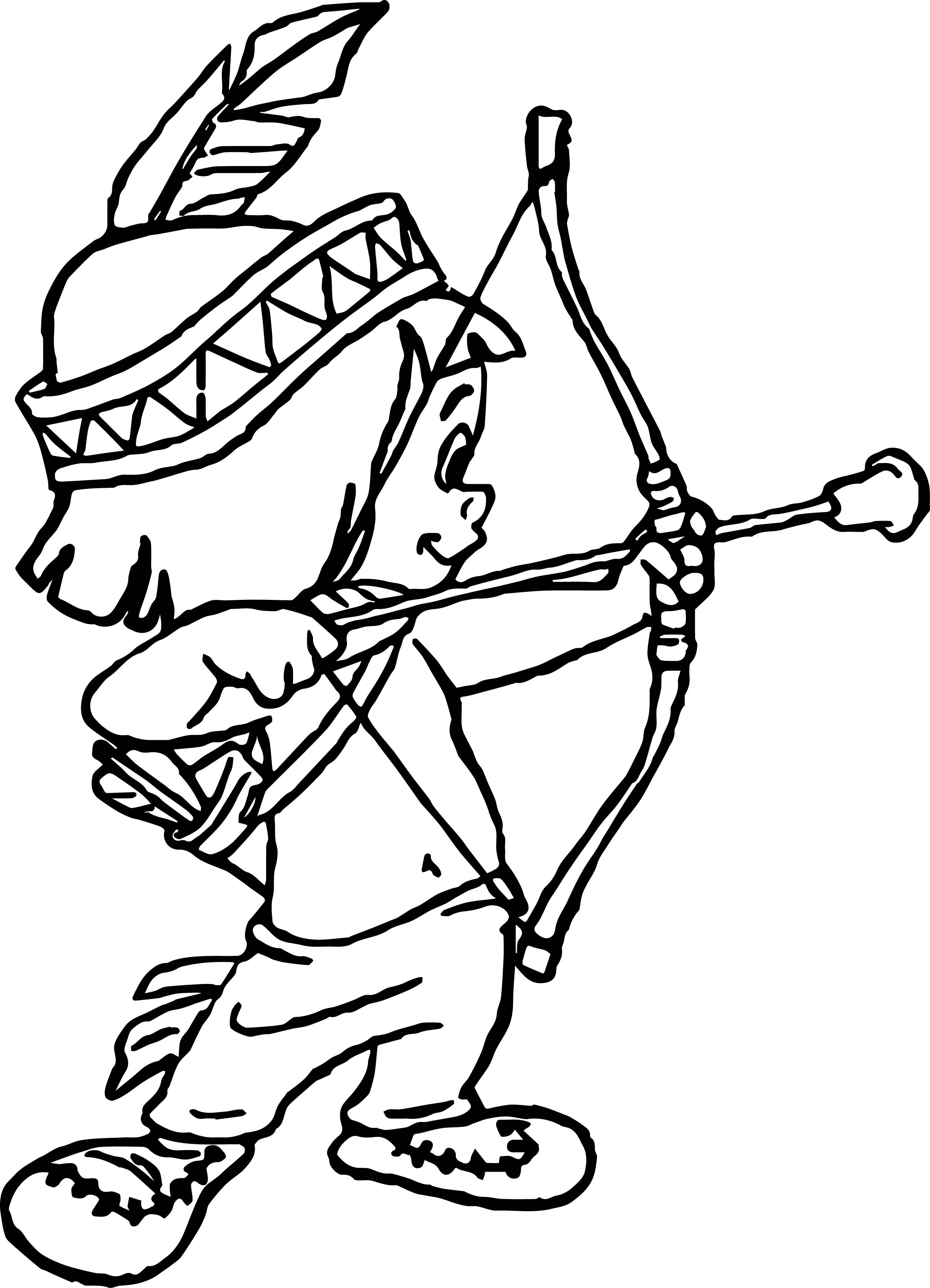 Indian Arrow Throws Coloring Page