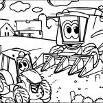 John Johnny Deere Tractor Coloring Page