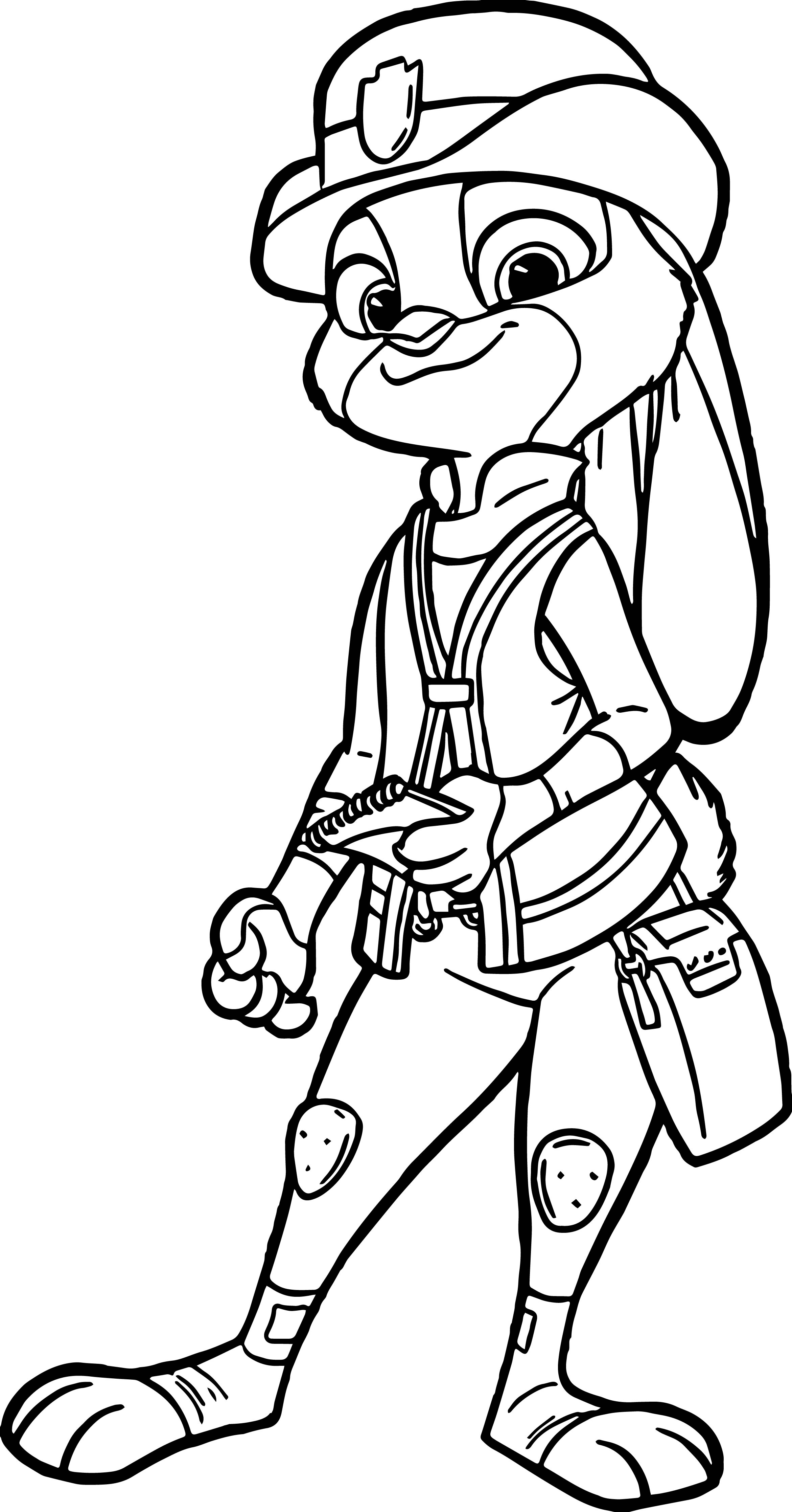 Judy Hopps Police Coloring Page