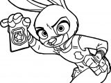 Judy Hopps Police Zootopia Coloring Page