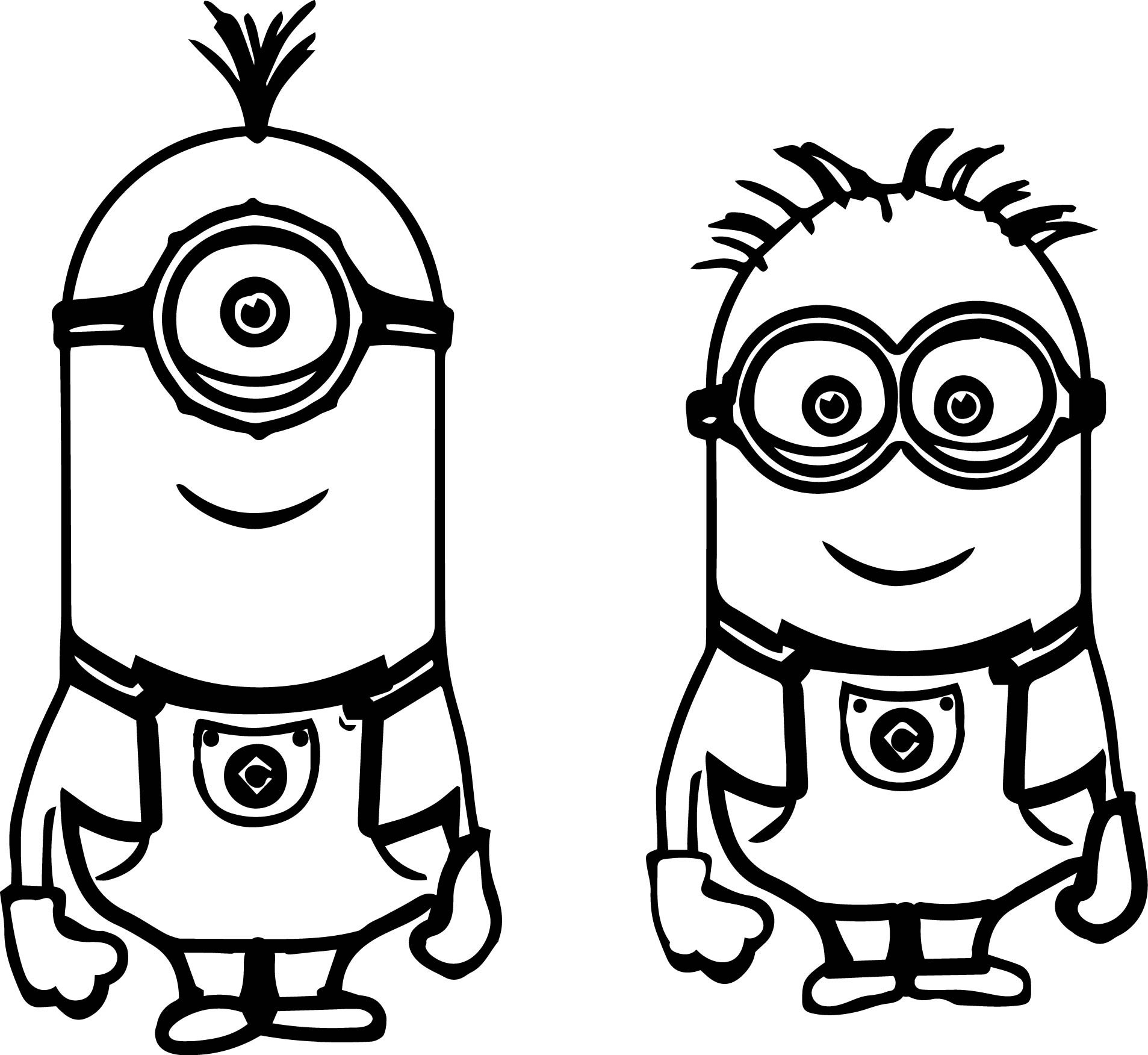 disney coloring pages minions coloring pages - Minion Coloring Pages
