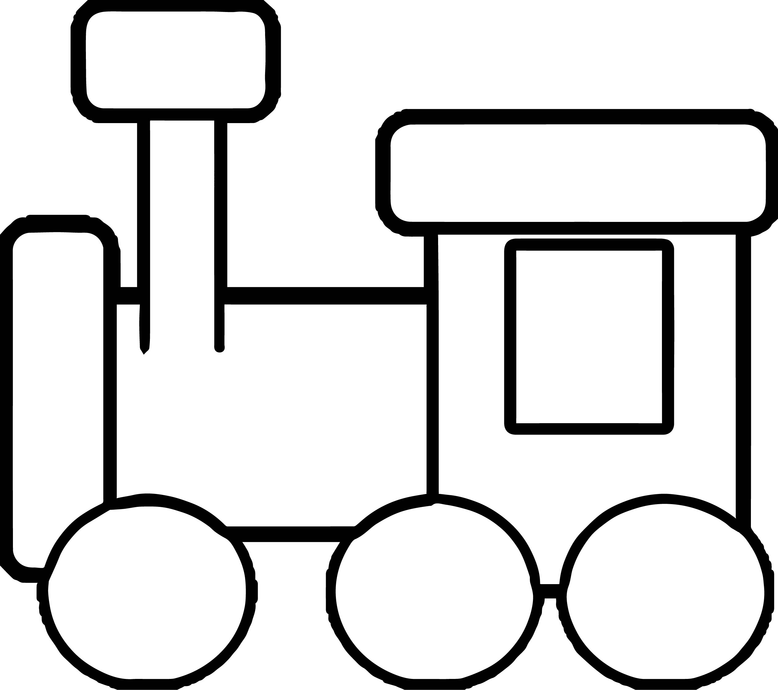 Kindergarten Train Coloring Page