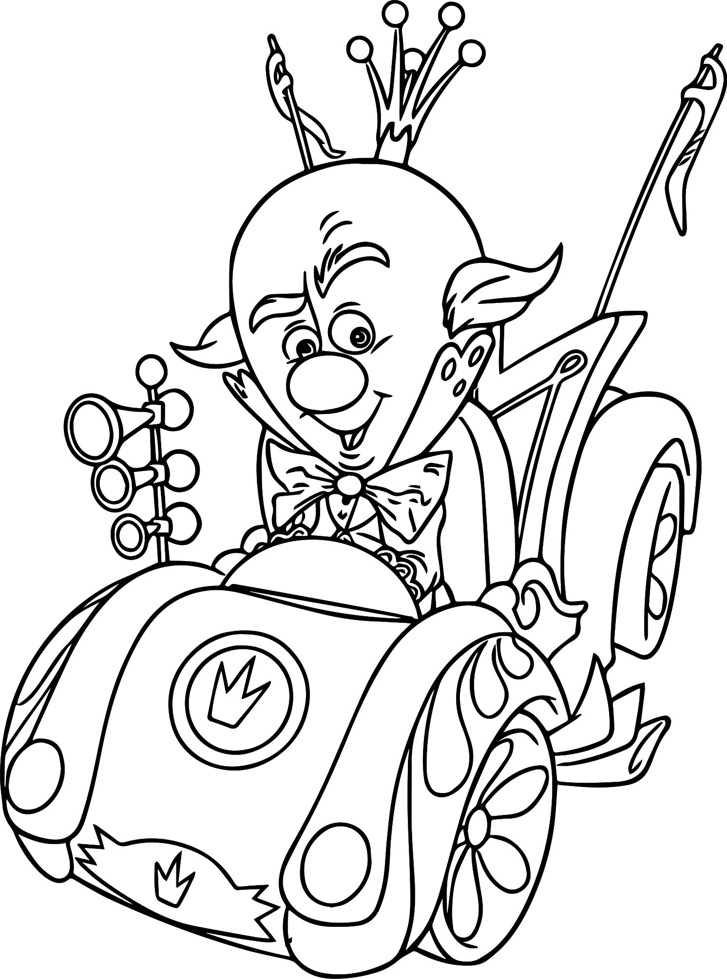 King candy car coloring page for Candy color pages