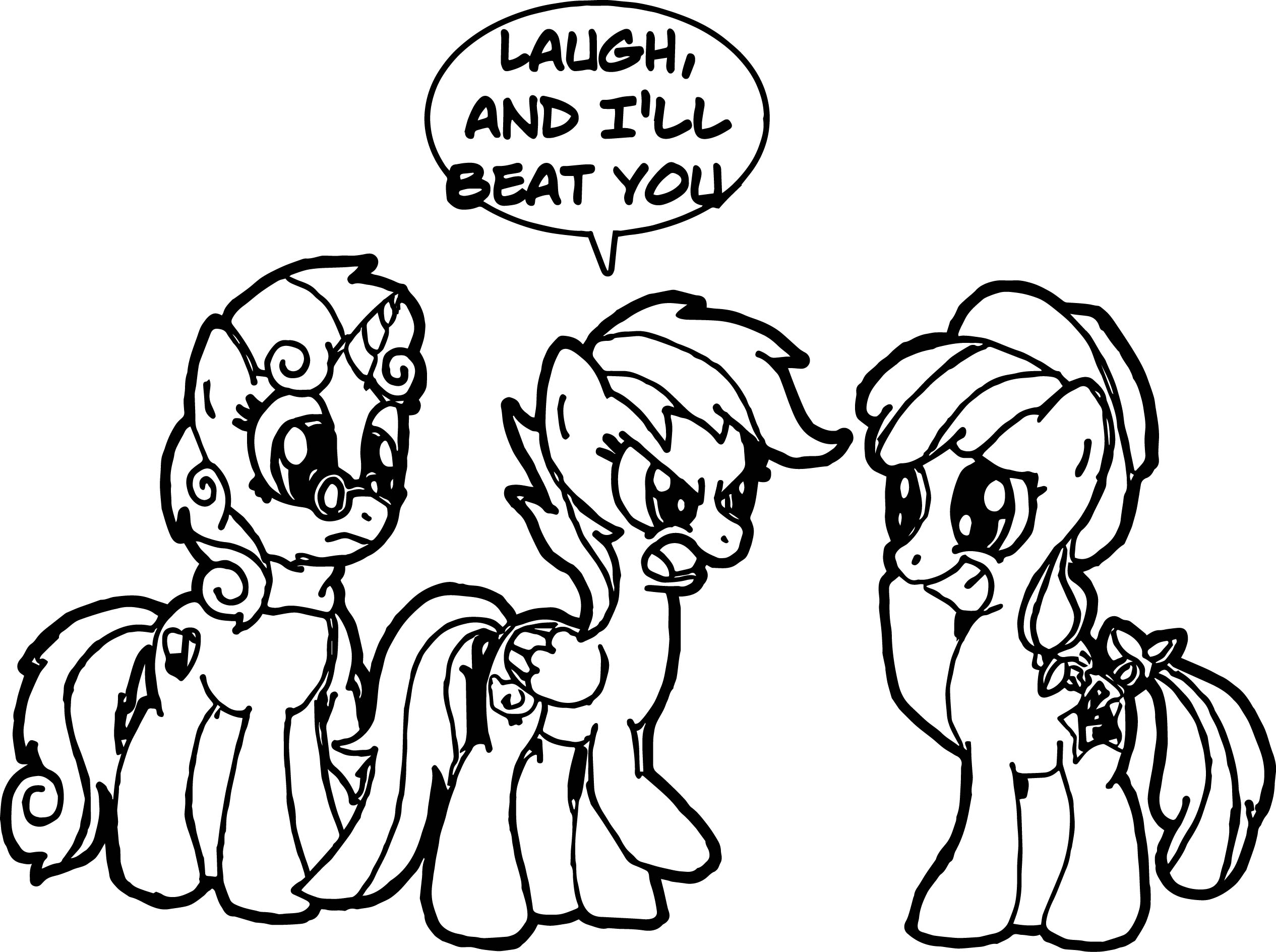 Laugh My Little Pony Coloring Page