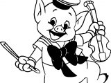 little pig violin coloring page