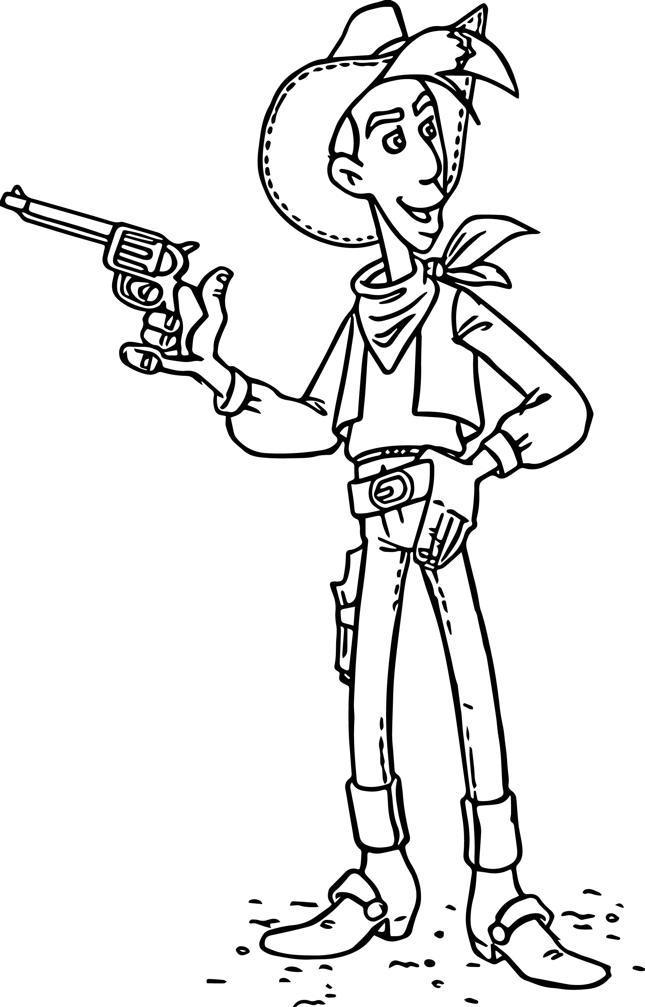 Lucky Luke Gun Coloring Page
