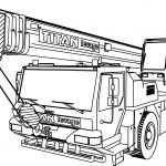 MAN Titan levage Ltm 1160 Pull Truck Coloring Page