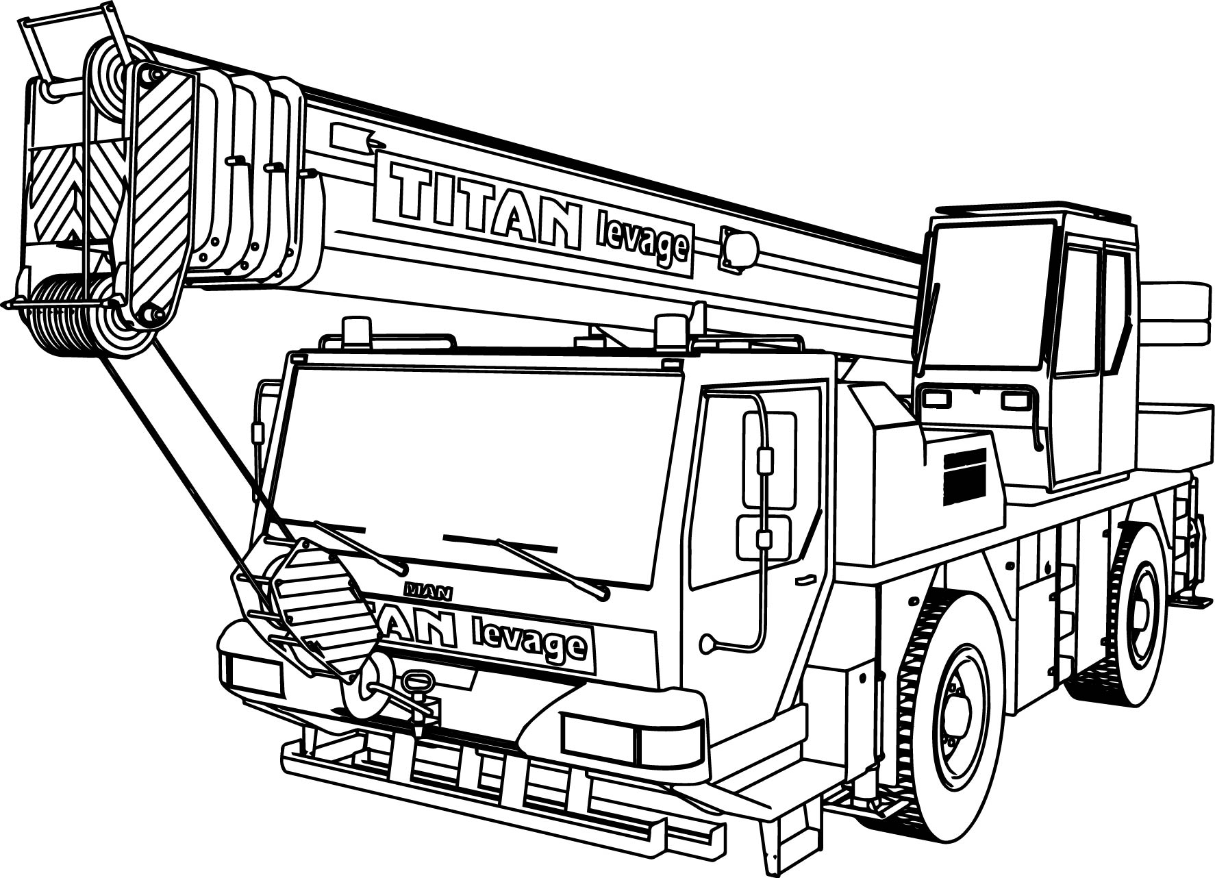 Man titan levage ltm 1160 pull truck coloring page for Trucks coloring pages