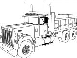 Mack Dumper Truck Coloring Page