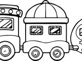 magic train coloring page