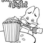 Max Ruby Movie Night Eat Popcorn Max And Ruby Coloring Page