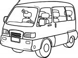 Minibus Coloring Page