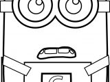 Minion Shock Coloring Page