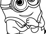 minion very cute coloring page