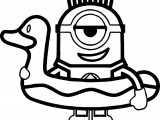 Minions Duck Coloring Page