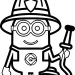 Minions Fireman Coloring Page