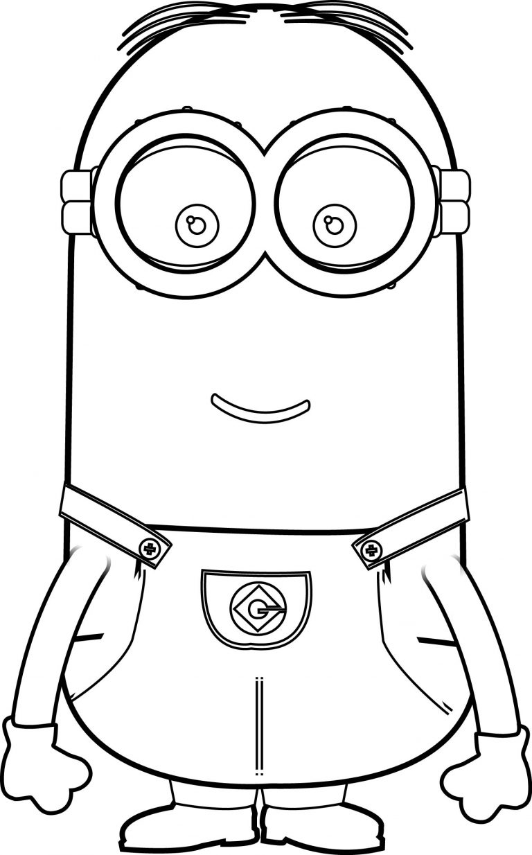 Kevin minion coloring page