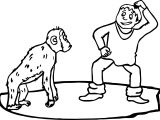 Monkey And Boy Monkey Say What Coloring Page