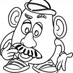 Mr Potato Coloring Page