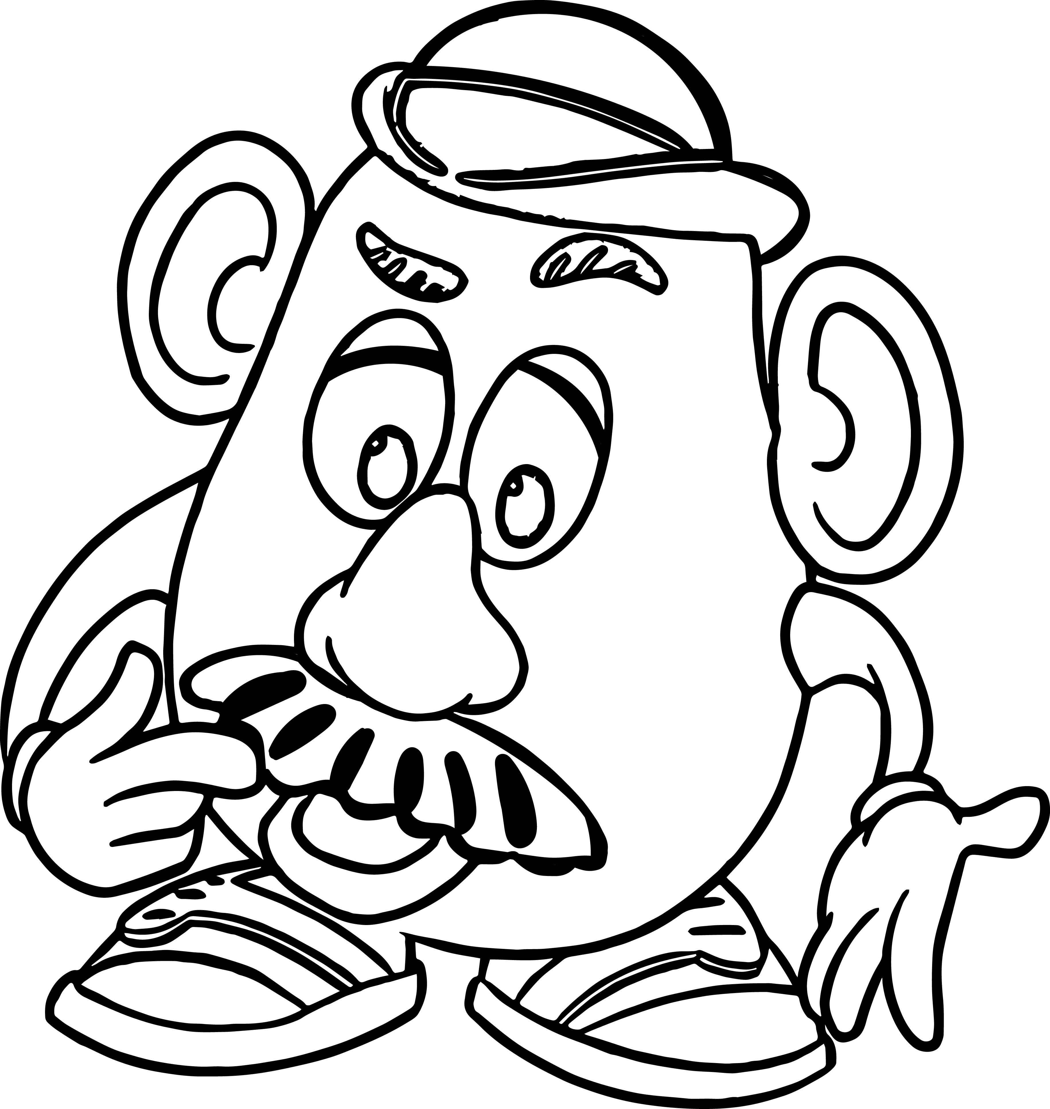 mr potato coloring page wecoloringpage