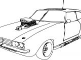 Muscle Car 70 Old Sport Car Coloring Page