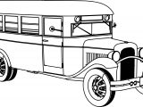 old school bus coloring page