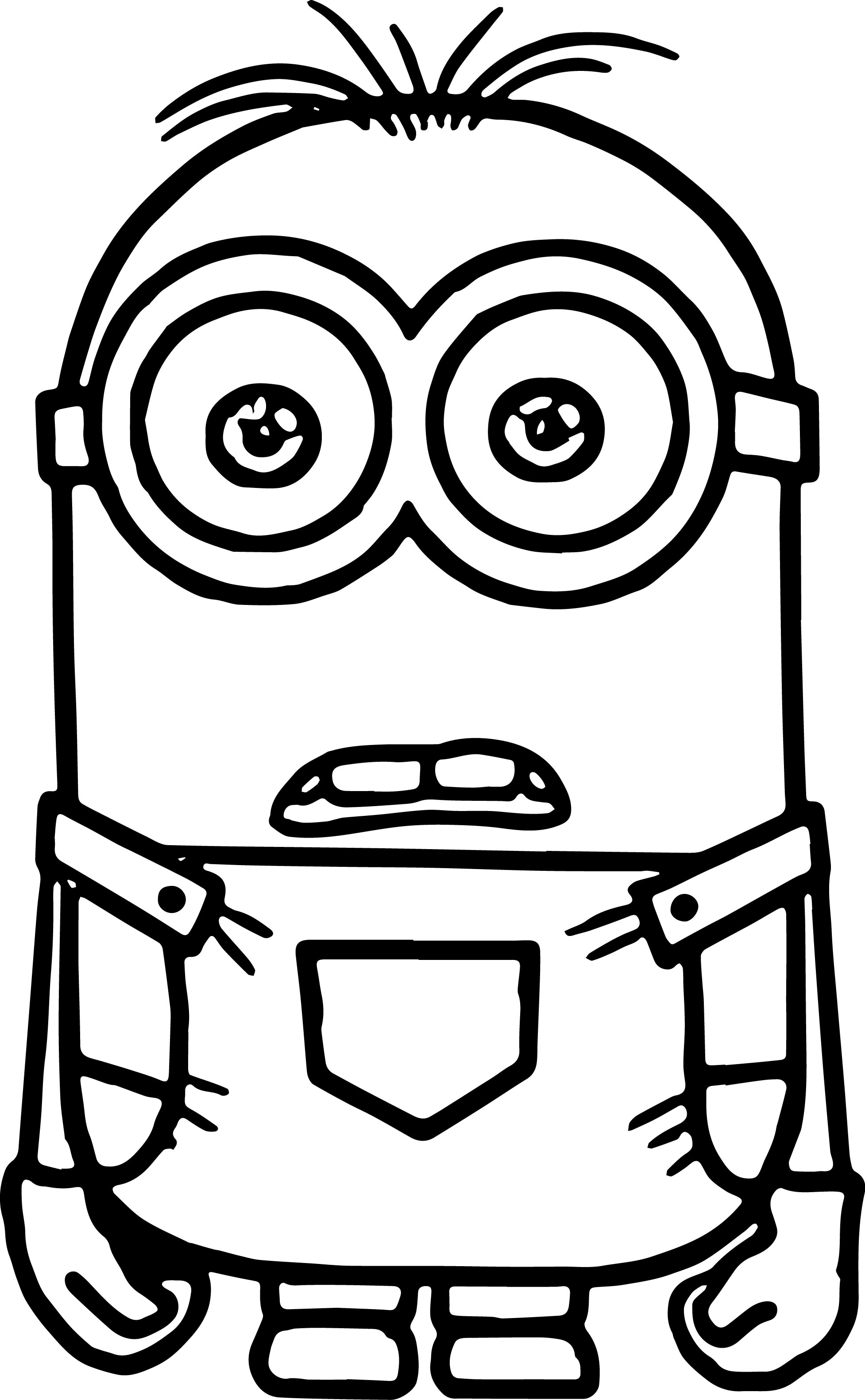 Kangaroo colouring page 2 - Perfect Minion Coloring Page
