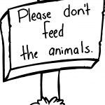 Please Dont Fee The Animals Board Sign Coloring Page