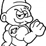 Power Smurf Coloring Page
