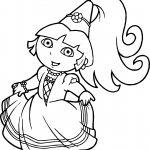 Princess Dora The Explorer Coloring Page