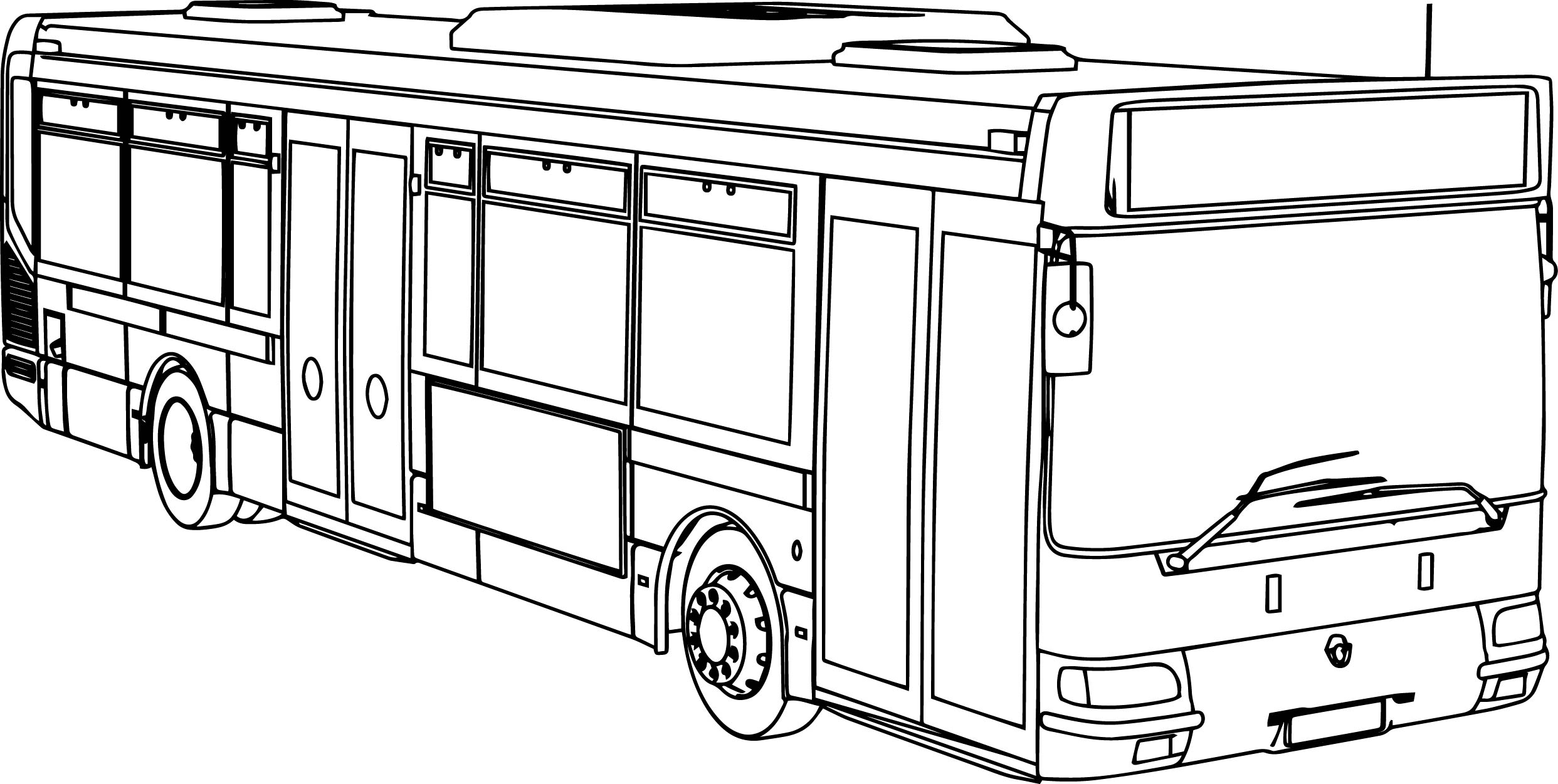 Renault Agora RATP Bus Coloring Page  Wecoloringpage