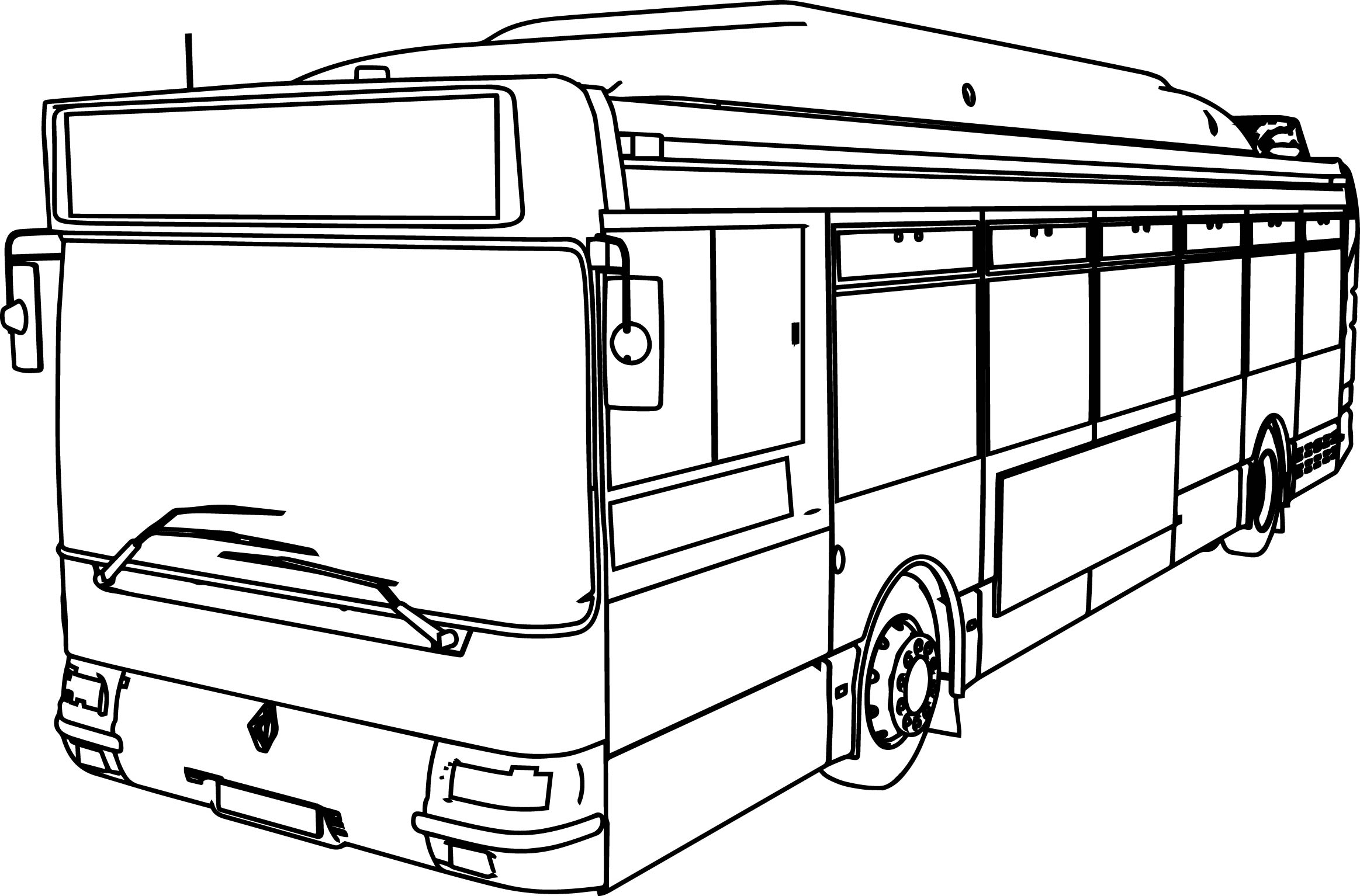 Renault Gnv Cts Bus Coloring Page