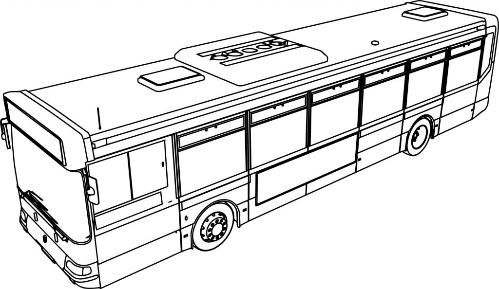 Renault Line Ratp Bus Coloring Page