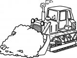 Sand Bulldozer Coloring Page